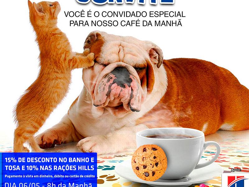 Convite Café da Manhã (06/05) Cão Q Mia