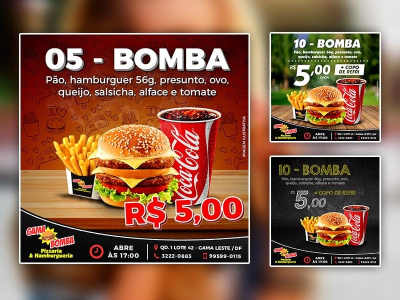 Layout Peças Promocionais – GAMA BOMBA